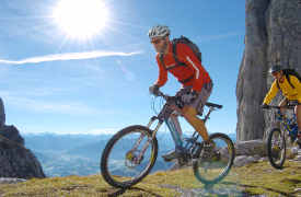 Mountainbiken am Wilden Kaiser